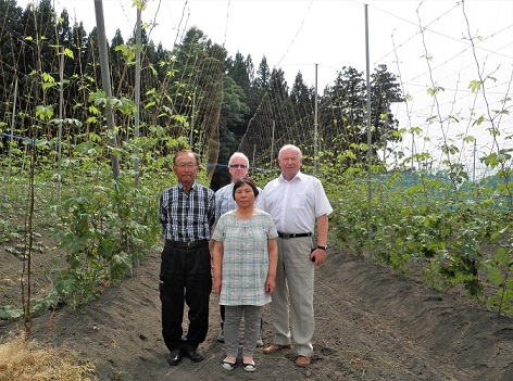 Our visit by a Japanese hop grower