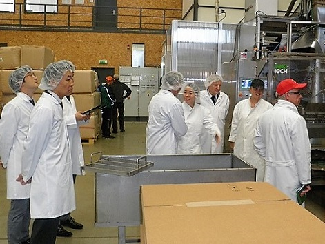 Representatives of Suntory Beer on a visit  to Horesedly plant